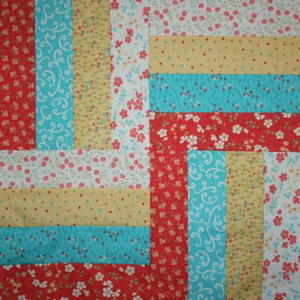 Lovely Rail Fence Quilt Table Topper Pattern