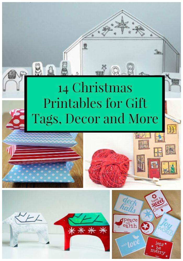 14 Christmas Printables for Gift