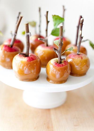 Fall Wedding Caramel Apple Bites