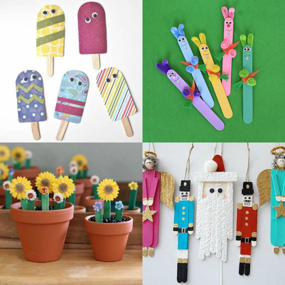 What to Make with Popsicle Sticks: 50  Fun Crafts for Kids  AllFreeKidsCrafts.com