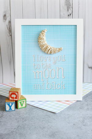 To the Moon Nursery Decor Craft