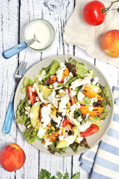 Chicken Salad with Greek Yogurt Lime Dressing