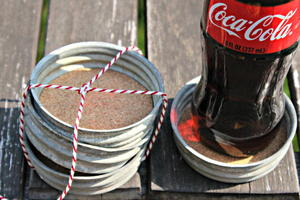 Mason Jar Lid DIY Coaster