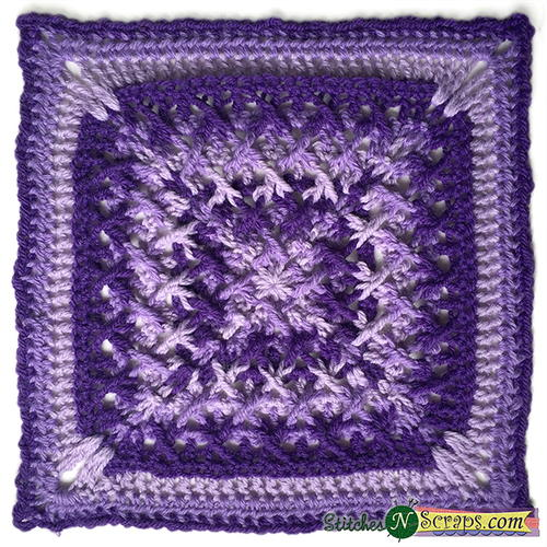 Criss Cross Crochet Granny Square