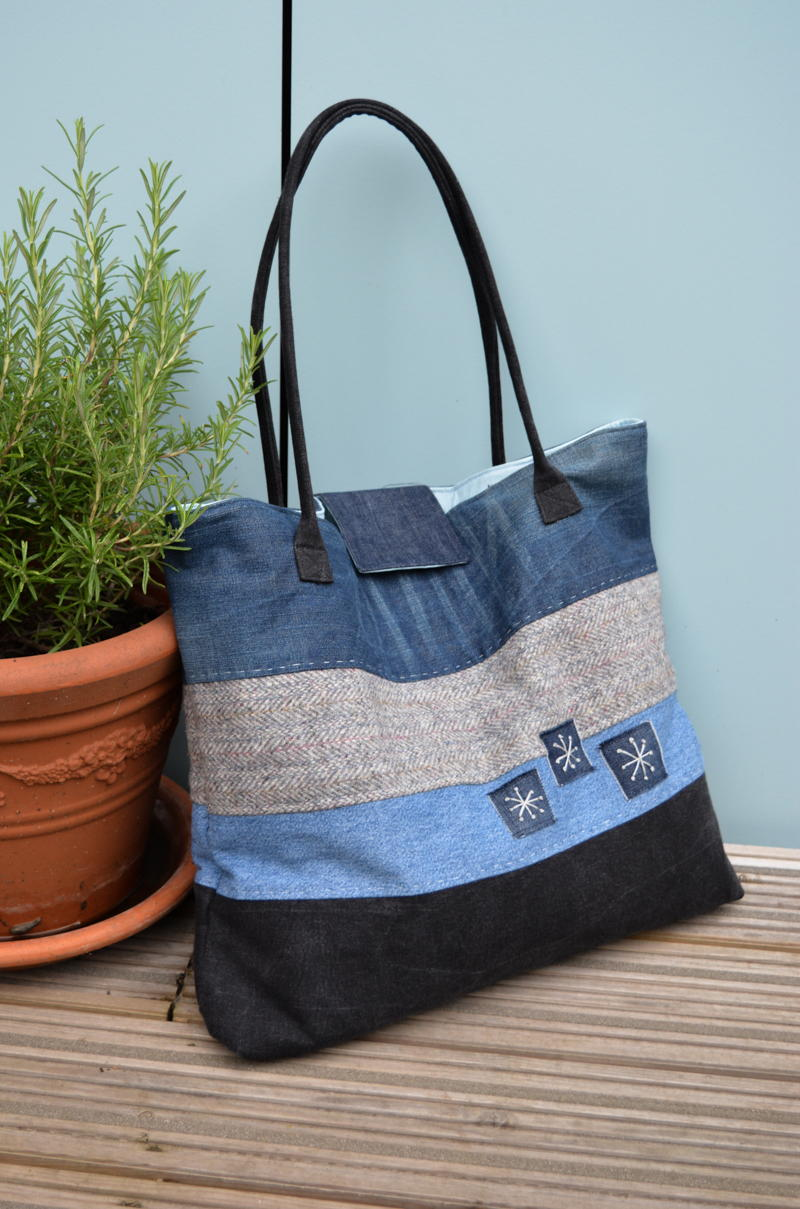 Large Upcycled Denim Tote Allfreesewing Com