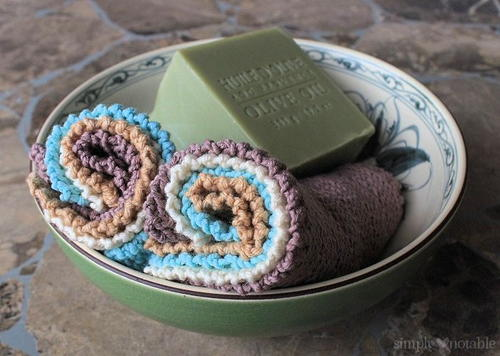 Jelly Roll Knitted Washcloth Pattern