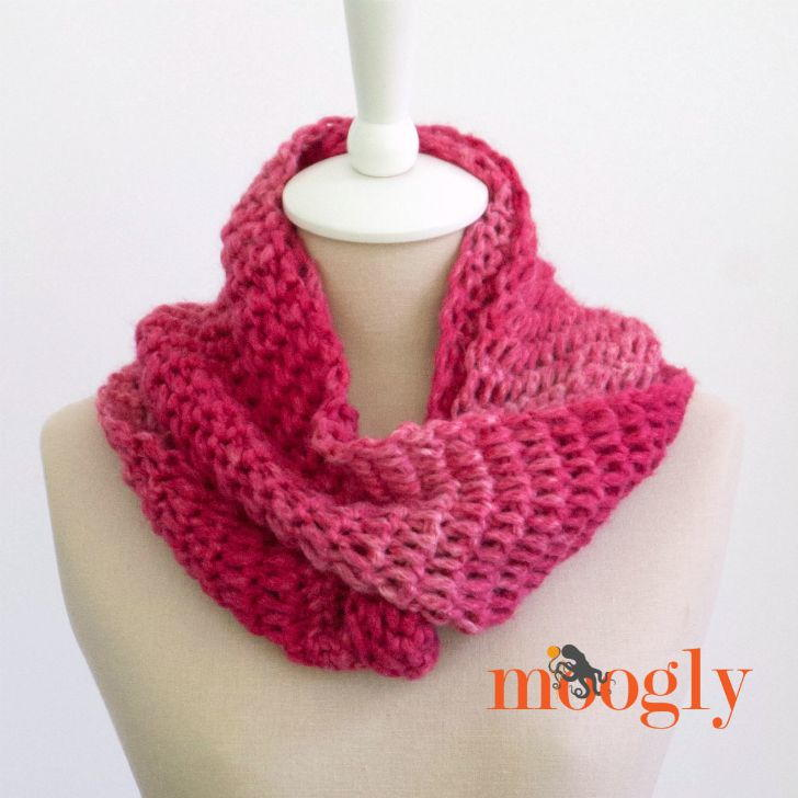 Top of the Tunisian Crochet Infinity Scarf