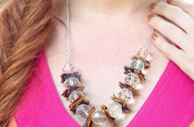Anthropologie Wrapped Lucite DIY Necklace