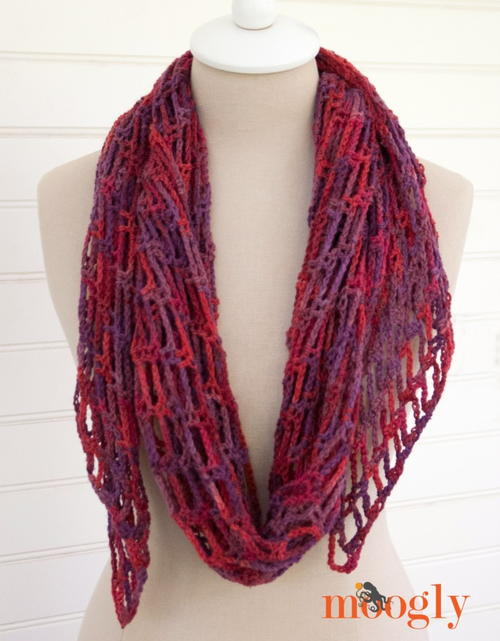 Artfully Simple Angled Crochet Scarf