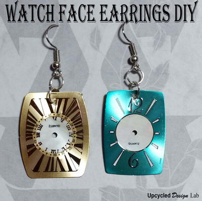 Upcycled Watch Face DIY Earrings