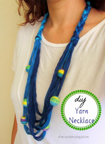 Beaded Yarn DIY Necklace