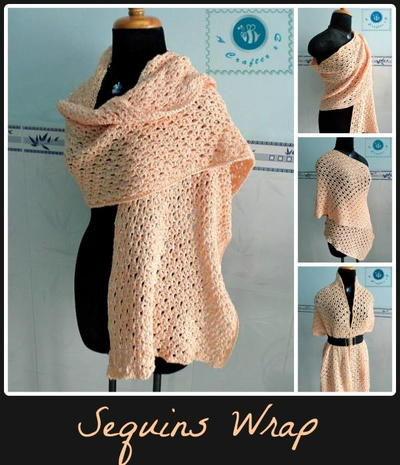 Sequins Crochet Wrap