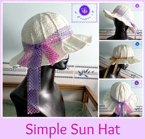 Simple Crochet Sun Hat