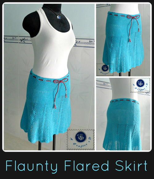 Flaunty Flared Crochet Skirt