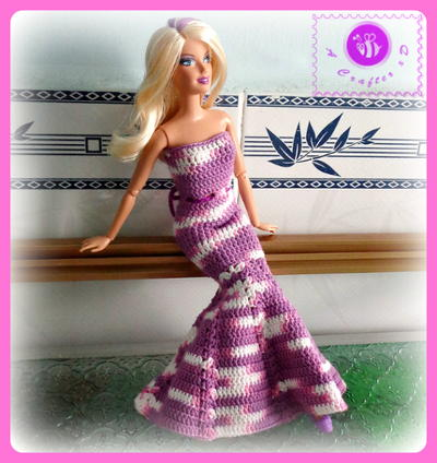 Mermaid Crochet Doll Dress