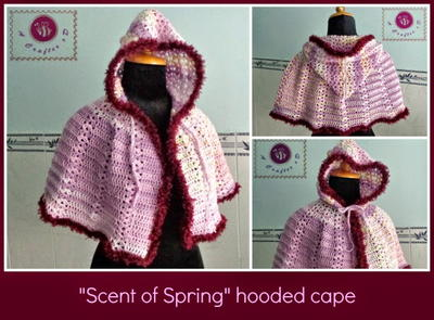 Spring Hooded Crochet Cape