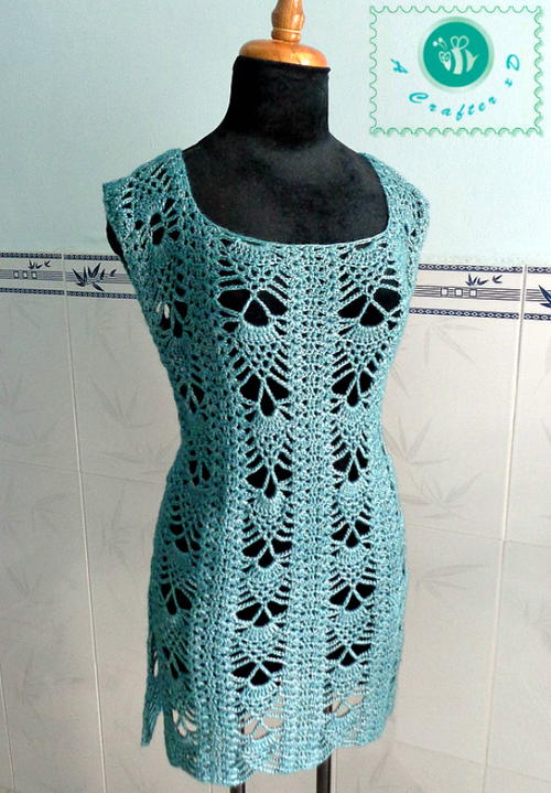 Pineapple Crochet Tunic