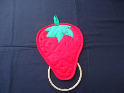 Cute Strawberry Dish Towel Holder