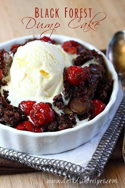 Black Forest Chocolate Dump Cake