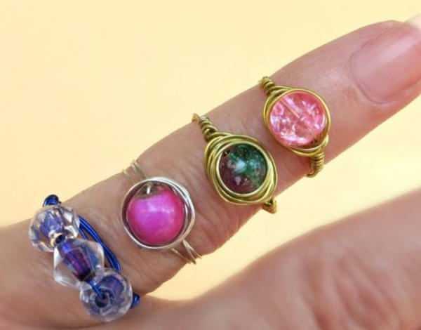 Dollar Store DIY Galaxy Rings