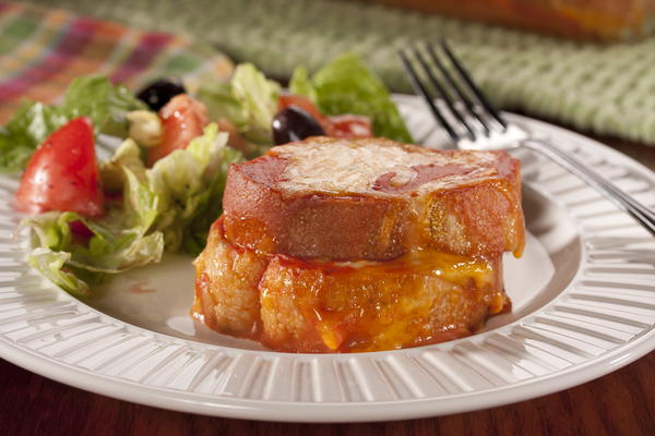 Grilled Cheese  Tomato Soup Bake
