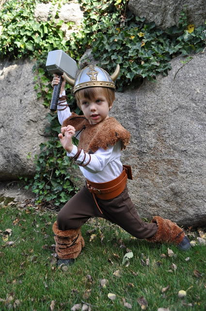 Little DIY Viking Costume