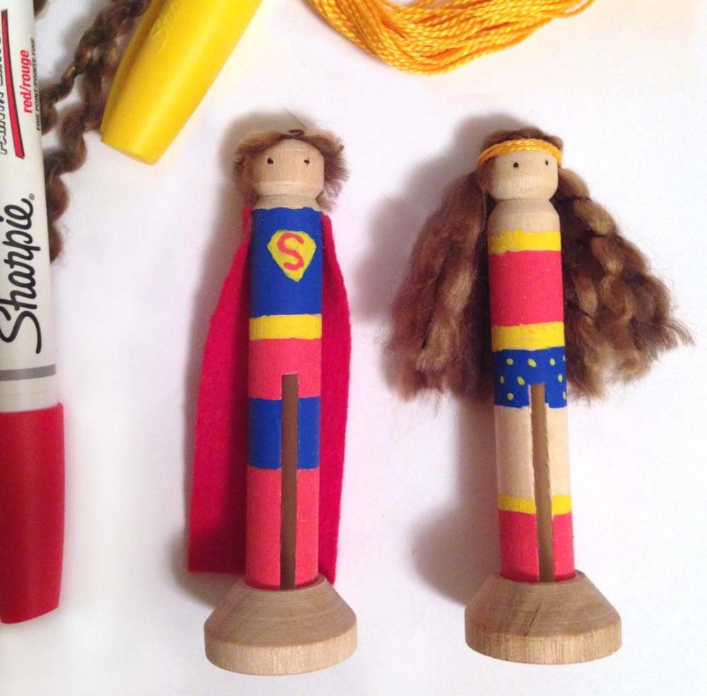 Super Hero Clothespin Dolls Allfreekidscrafts Com