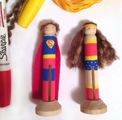 Super Hero Clothespin Dolls