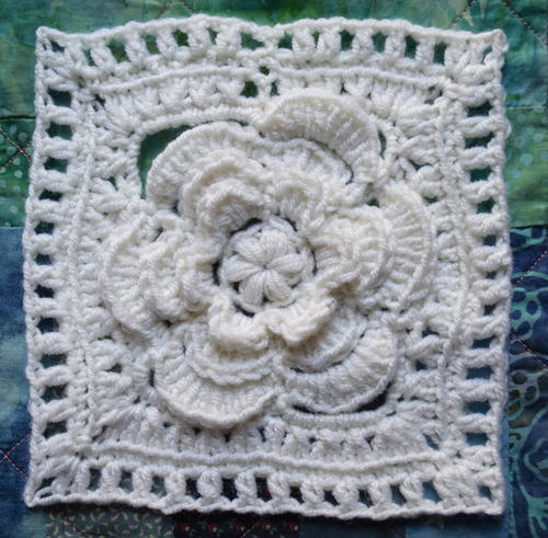Mayapple Crochet Flower Square