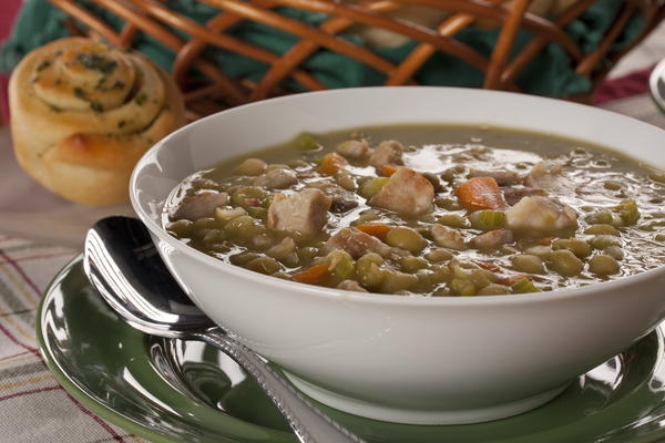 Lightning Quick Split Pea Soup