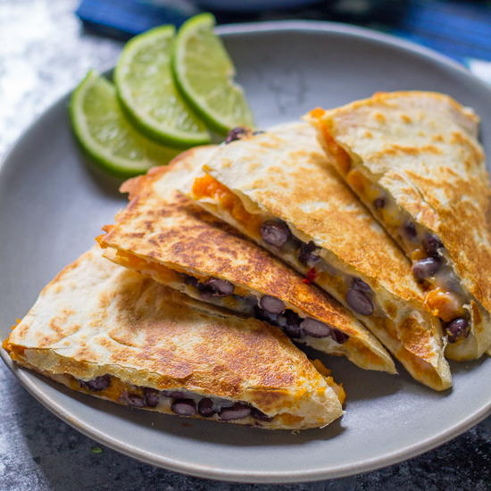 -Sweet-Potato--Black-Bean-Quesadillas-with-Lime-Yogurt-Slow-Cooker ...