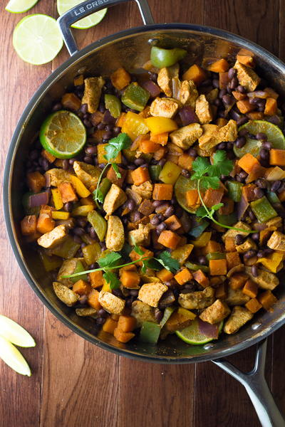 Chili-Lime Chicken & Sweet Potato Skillet