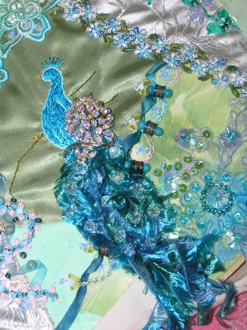 Victorian Peacock Crazy Quilt Favequilts Com