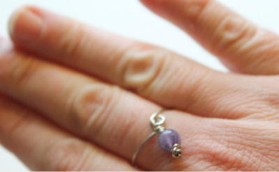 How to Make a Ring with Bead Dangle