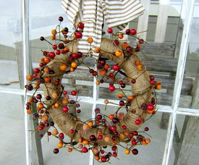 Twine and Berry Wreath