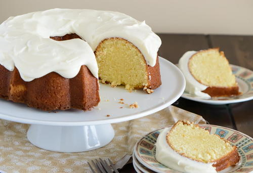 Orange Pound Cake with Cream Cheese Frosting