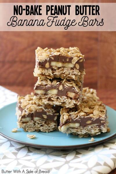No Bake Peanut Butter Banana Fudge Bars Recipelion Com