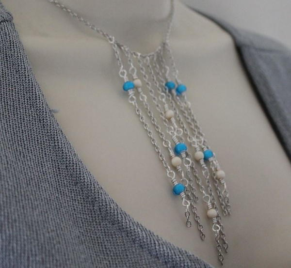 Niagara Falls Inspired Wearable Waterfall Necklace