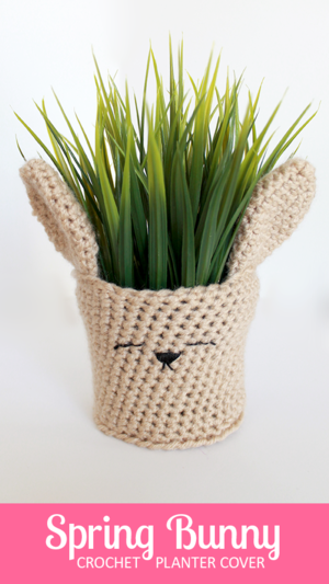 Spring Bunny Planter Cover