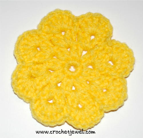 Bold Yellow Flower Coaster