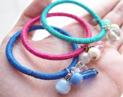 Embellished Hair Tie DIY Bracelets