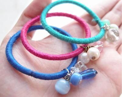 Embellished Hair Tie Diy Bracelets Allfreejewelrymaking Com