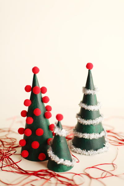 Tinsel Table Top Trees