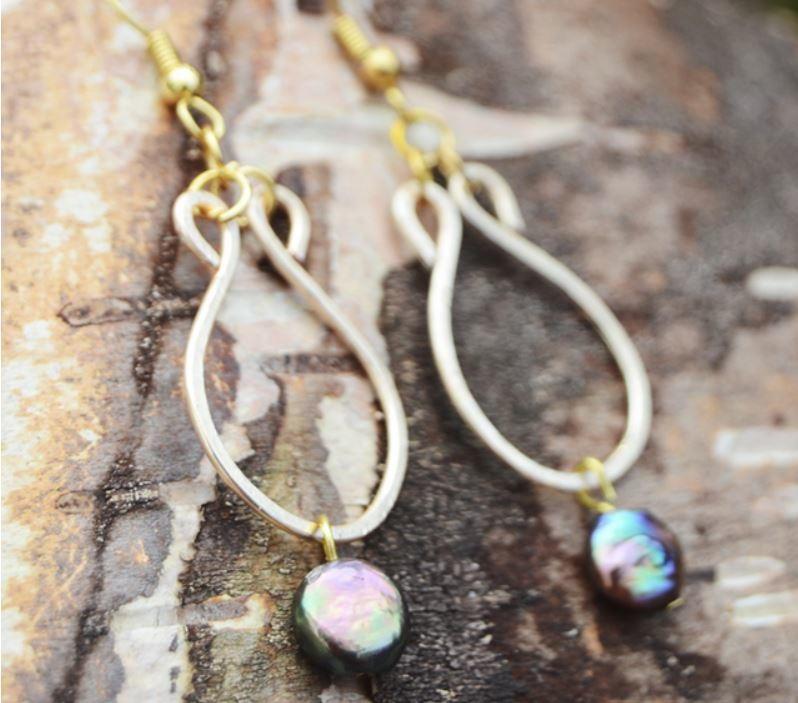 Pearl Teardrop Dangling Diy Earrings