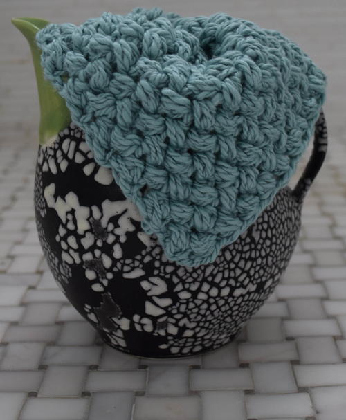 Aqua Textured Washcloth