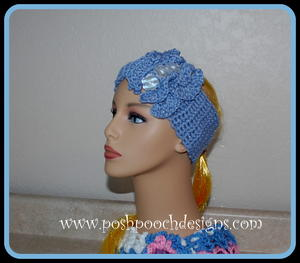 Double Ruffled Headband Earwarmer