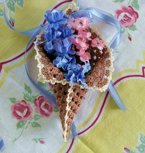 Granny's May Day Crochet Basket