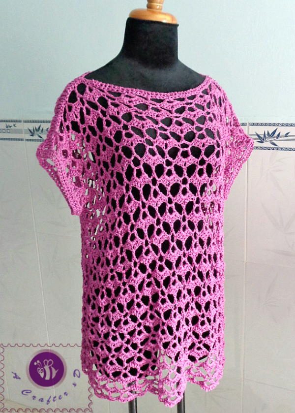 How To Crochet Flower Tunic Top Sweater Free Pattern Tutorial