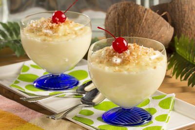 Homemade Coconut Pudding