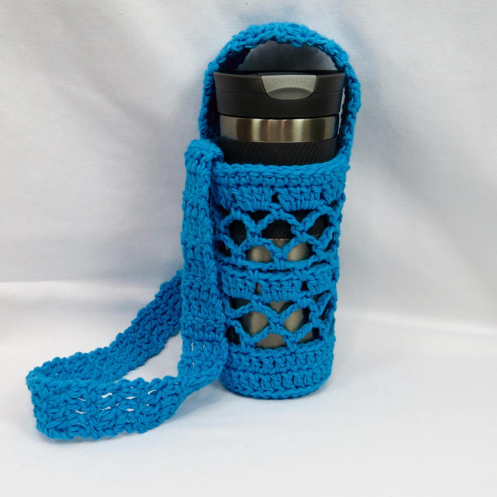 What A Mesh Water Bottle Holder Allfreecrochet Com